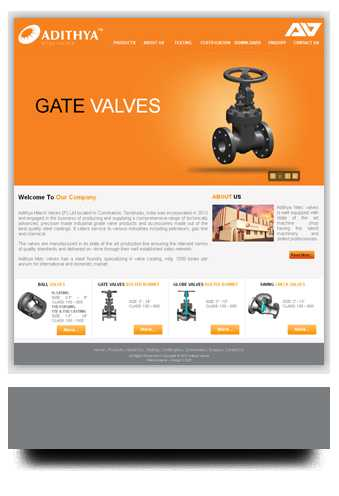 Website designed for engineering company in Coimbatore