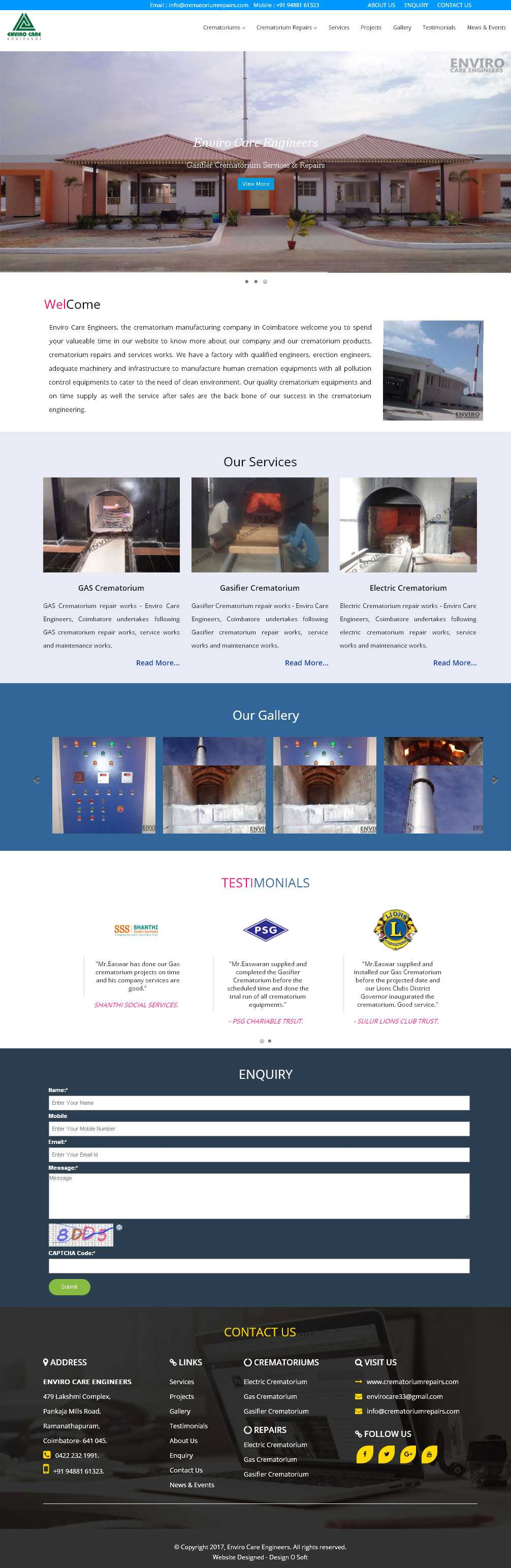 Website Designed for Human Cremation Services in Coimbatore