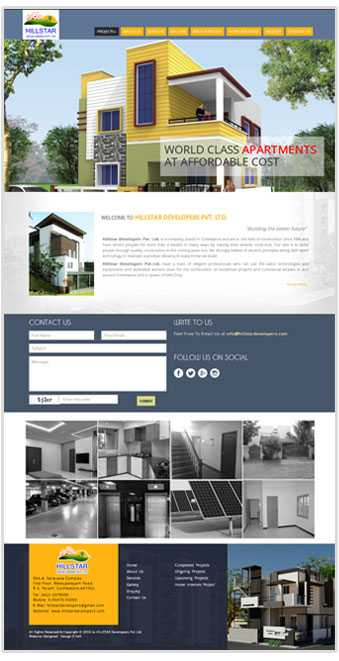 Website Designed for a realestate developer in Coimbatore