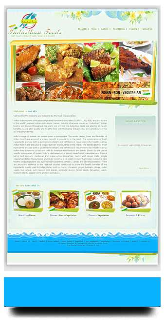 Website Designed for catering company in Ireland
