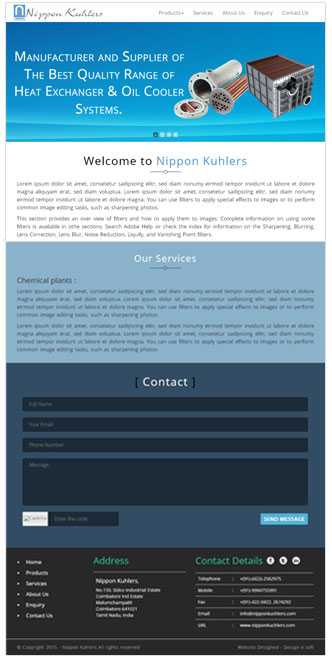 Web design for engineering company in coimbatore
