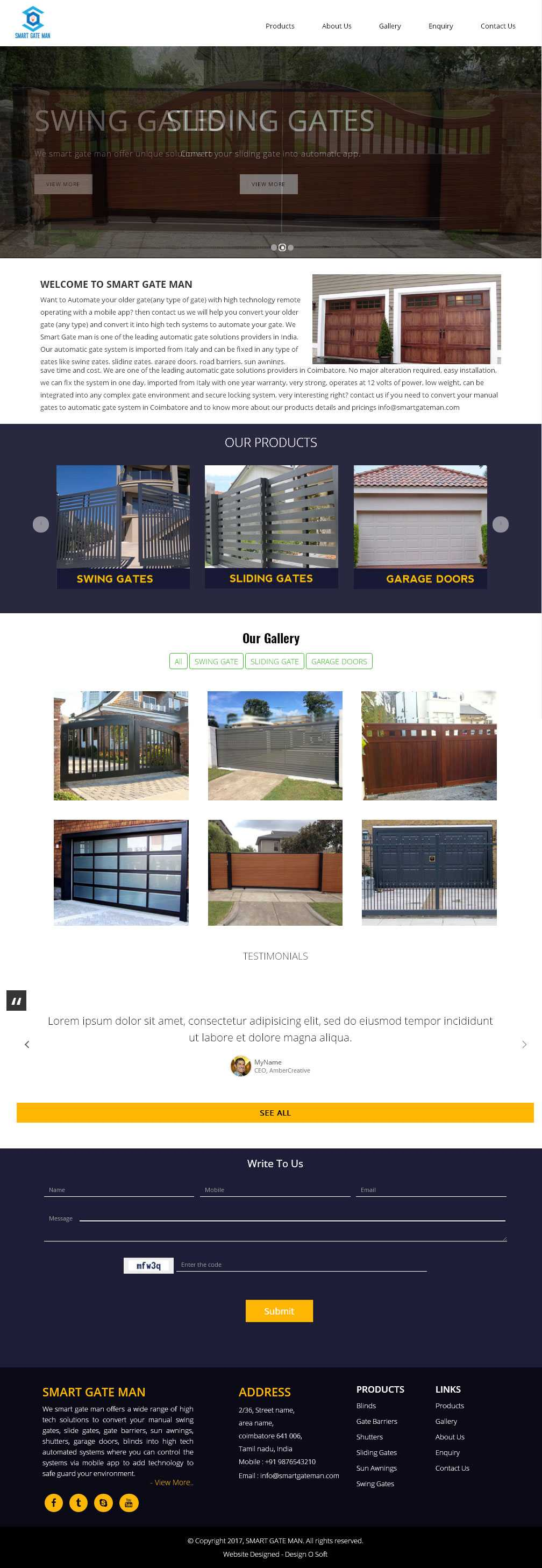 Website designed automatic gate services in coimbatore
